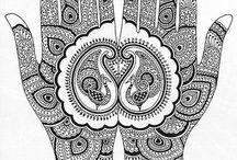 kleurplaat henna(mandala)