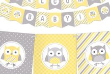 baby shower hibou
