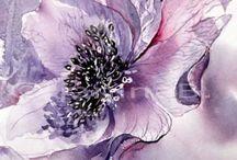3. Blumen Aquarell & Wasser
