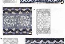 Flower knitting charts