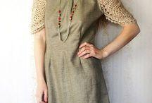 vestido conbinado con crochet