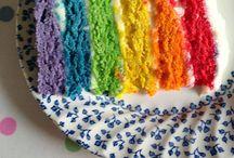 Rainbow cake recipe / Cake bake