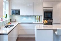 Kitchens | Inspiration | White / White kitchen design  and interiors fitted by Urban Myth London