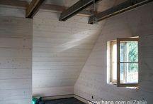 Drewniane wykończenie domów szkieletowych / Domy szkieletowe tzw. kanadyjskie zarówno na zewnątrz jak i wewnątrz możemy wykańczać w dowolny sposób. Pomimo drewnianej konstrukcji nie ma tu żadnych ograniczeń.