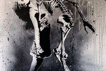 life/death dance-skeleton woman