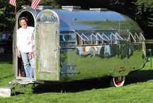Vintage Wheels / A collection of vintage redo caravans we've found