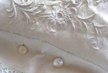 bordados y encajes en blanco