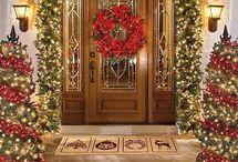 Arreglos navideños puertas