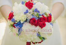 Blau und Rot / Wedding Dekoideen