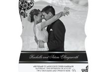 Wedding Announcements / Modern, stylish, elegant, classy, chic, simple, trendy, asian, oriental wedding or marriage announcement photo cards, invitation cards and magnets by fatfatin at www.zazzle.com/fat_fa_tin* / by Fatfatin Art