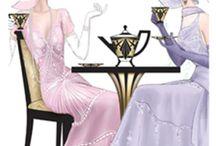Art Deco and Vintage ladies