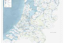 Bevaarbare rivieren Benelux / Rivieren, kanalen en meren om te bevaren in de Benelux landen