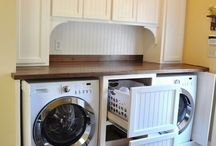 Washer Dryer Closet / Super Clever Laundry Room Storage Ideas..absolutely LOVE these ideas!