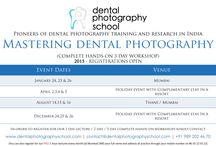UPCOMING COURSES IN MUMBAI / here is a board which will keep all the dental professionals updated about #dental #photography #courses and #workshops in Mumbai in the year 2015