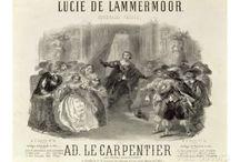 Opera posters.  Lucia de Lammermoor