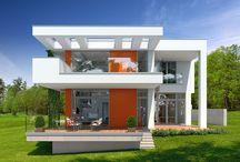 Domy nowoczesne / Nowoczesne projekty domów