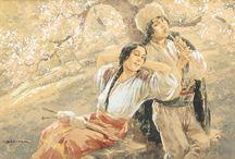 Ignat Bednarik, pictor român ( 1882-1963). /  Pictor  român care a lucrat în aproape toate genurile de pictură , înainte de a se dedica exclusiv acuarelei.   A fost, printre altele, membru fondator al Sindicatului Artelor Frumoase din România, adept al curentului Art Nouveau și ilustrator al cărților Reginei Maria a României. Lucrările sale din perioada de maturitate au adus influența simbolismului european în România, așa cum Alexandru Macedonski a explorat idei similare în poezie.