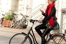 Female on bike