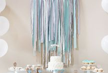 Aqua and Grey Baby Shower