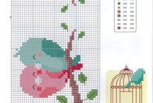 Cross stitch kuşlar