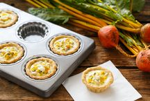 Mini quiches and pies