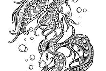 Fish & Sea Zentangle