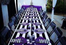 Bridal Shower Ideas / Bridal Shower Black, White & Purple