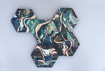 marbled objects // marbling inspiration / by modernhaus