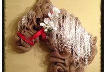 věnce-koně vánoční i jiné