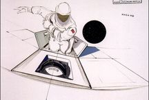 Space Race / Loewy designed space capsule and space station interiors