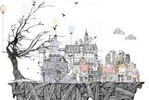 Sketching, illustrations & drawings