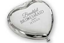 Engraved silver plated bridesmaid compact mirror wedding gift ideas / Stunning personalised engraved silver plated bridesmaid wedding thank you gift ideas from CV Engraving
