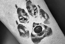 tattoo dog wolf