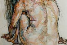 Watercolour nudes