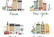 Inspiración Campaña Citibuddies / Ilustraciones, dibujos y algunos recortes que nos parecen inspiradores para disparar ideas para tu t-Art del desafío @Citibuddies!  / by t-Art