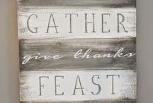 DIY Thanksgiving Home Decor / DIY Home decor ideas for your home during thanksgiving.  Includes wall decor, table decor, and more