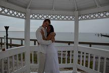 Ruskin Beach Wedding / Sunset Grill beach wedding in Ruskin. Gazebo's on beach, beautiful boardwalk.. beautiful beach.  Tampa wedding officiate