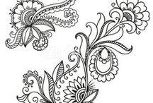 Kantha & henna design