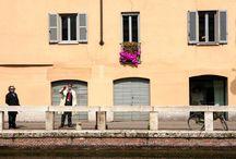 "#CrackingArt | Alzaia Naviglio Grande, Milano / April 10  – May 10, 2014 | Cracking Art installation ""Full of frogs"" @ Naviglio Grande, Milan (Italy)"