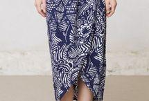 batik skirts and dresses
