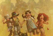 niños imaginarios, jugando y creando