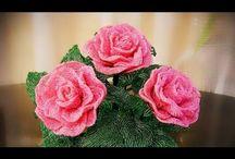 koralikowe kwiaty