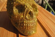 Human replica Skulls, Glitter n Gold and other Skulls - Donnie Darko Frank the rabbit. / Handmade Replica Skulls and other items on Etsy