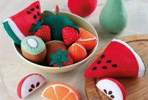 Felt fruits / vegetables