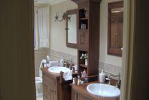 Vanité salle de bain sur mesure / Mobilier de salle de bain en pin