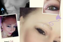 makeup collage
