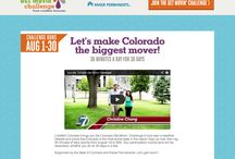 Livewell Colorado- Get Movin' Challenge / Our work with Livewell Colorado- Get Movin Challenge. We provided: strategy, development, campaign, CMS, wireframing, custom support, design, responsive, and agency