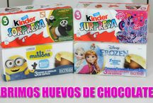 Abrimos huevos chocolate - Open Chocolate eggs / Noa abre huevos de chocolate en nuestro VBlog en Youtube