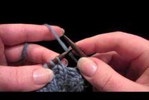 Learning to knit / Учимся вязать