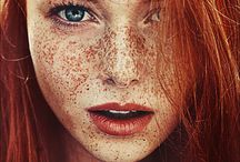 Freckles inspo / Not my images just work I am inspired by